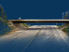 3D Laser Scan of Highway Bridge